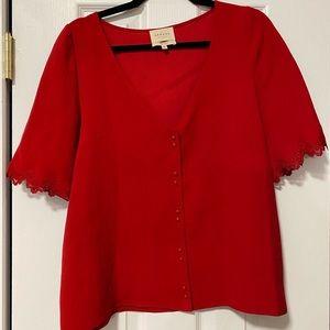 Sezane Aretha Blouse in Raspberry Size 40